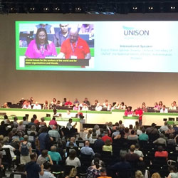 Cuban Union leaders warmly received at Unison conference