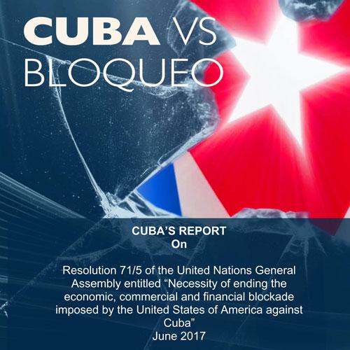 Cuba reports on blockade damages in advance of UN vote